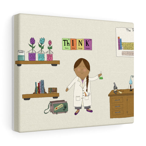 Girl Scientist - Wall Hanging