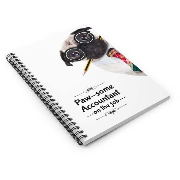 Paw-some Accountant Spiral Notebook
