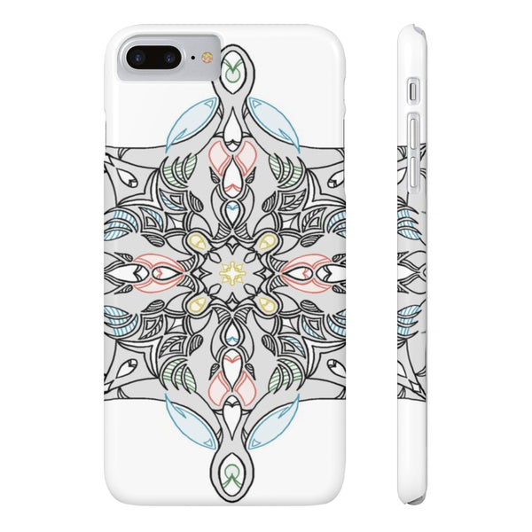 Oblong Mandala Slim Phone Cases