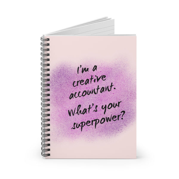 Creative Accountant Spiral Notebook