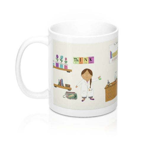 Genius Loading Girl Scientist Mug