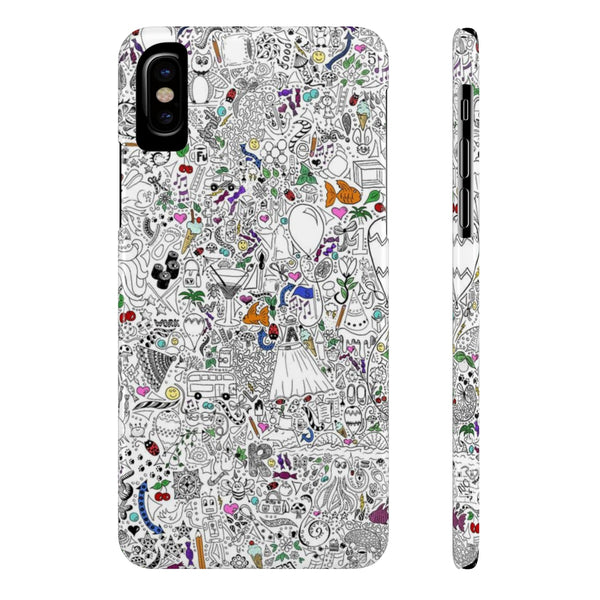 Doodles Slim Phone Cases