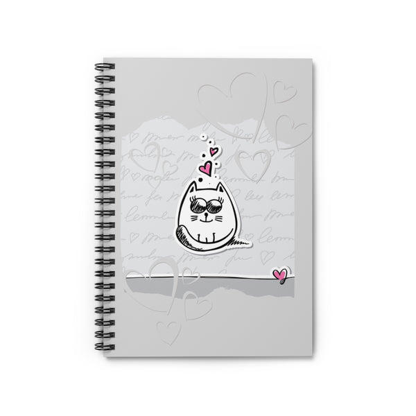 Love Kitty Spiral Notebook