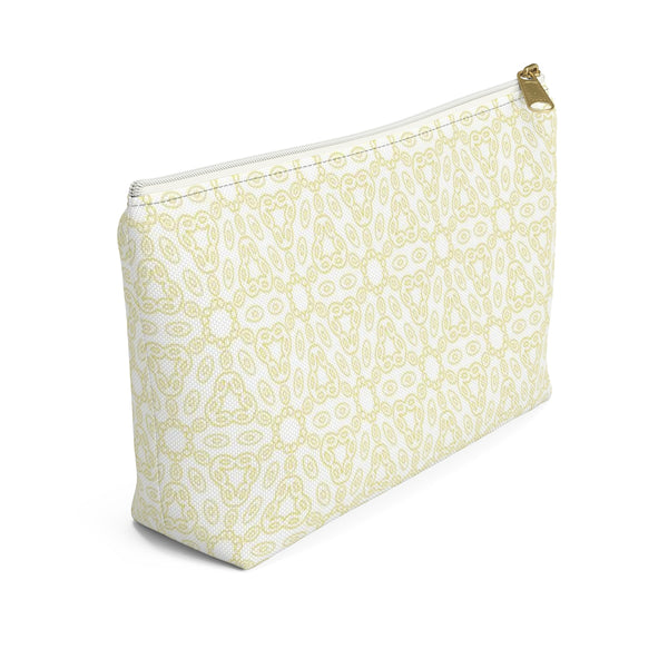Yellow Geometric Cosmetic / Pencil Case