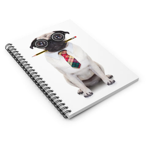 Pug Accountant Spiral Notebook