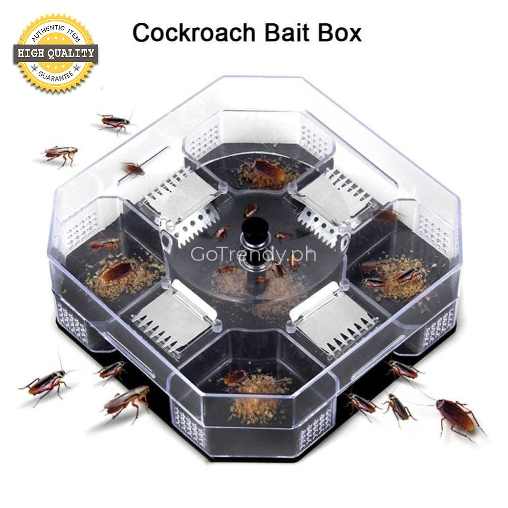 Reusable Cockroach Pest Control Trap Box - Advance Killer Bait