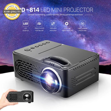 Mini LED Projector HD Home Theater Wireless Push Multi-screen Mircast For Phones