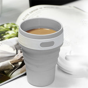 Collapsible and Foldable Silicone Coffee Cup 350 ml