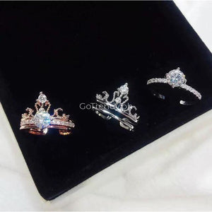 2 In 1 Double Ring Diamond Crown