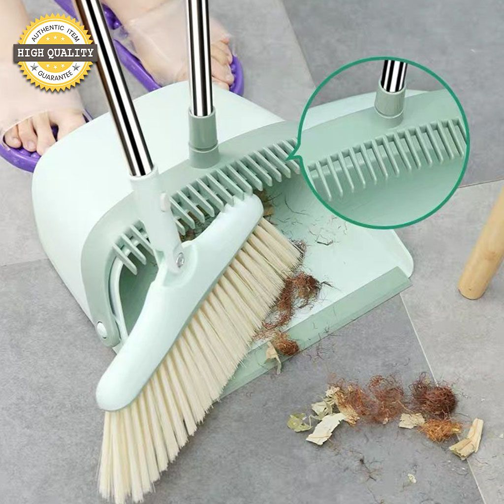 1 Set Soft Hair Broom and Dustpan Combination
