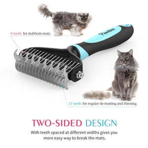 Stainless Steel Pet Grooming Comb For Dogs And Cats