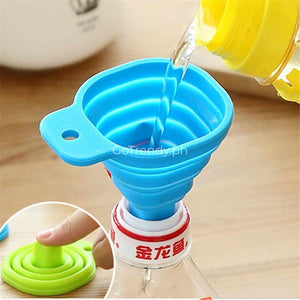 Mini Kitchen Silicone Gel Foldable Funnel (Buy 1 Take 1)