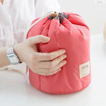 Barrel Shaped Travel All In One Cosmetic Bag