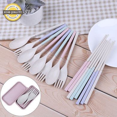 Portable Eco-friendly Spoon Fork Chopsticks Foldaway Cutlery