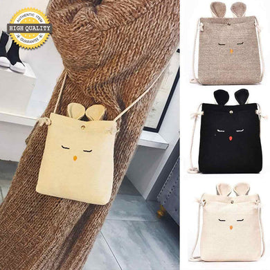 Rabbit Phone Sling Bag Linen Eco-friendly Cross-Body Bags