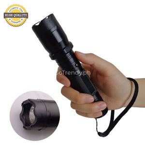 Flashlight With Self Protection Taser