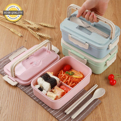 Wheat Straw Lunch Box with Utensils