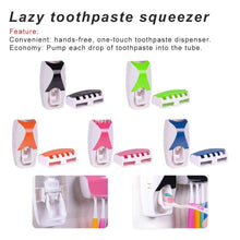 Automatic Toothpaste Dispenser + 5Pcs Toothbrush Holder Set