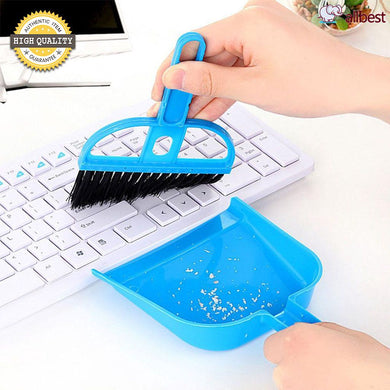 Mini Dustpan Set Desktop Sweep Cleaning Brush