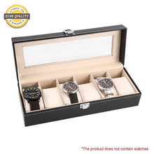 6 Grid Luxury Refinement Slots Wrist Watches Gift Case
