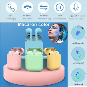Macaron Touch Control Wireless Bluetooth 5.0 Inpods