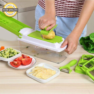 12 In 1 Magic Slicer - Easily Slice Shred And Chop Fruits Vegetables Ingredients More