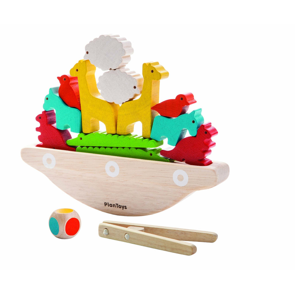 Animal Balancing Boat by Plan Toys