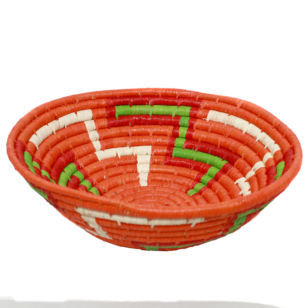 Raffia Baskets - Large Basket (Fuscia, Blue, Orange, Lemon)