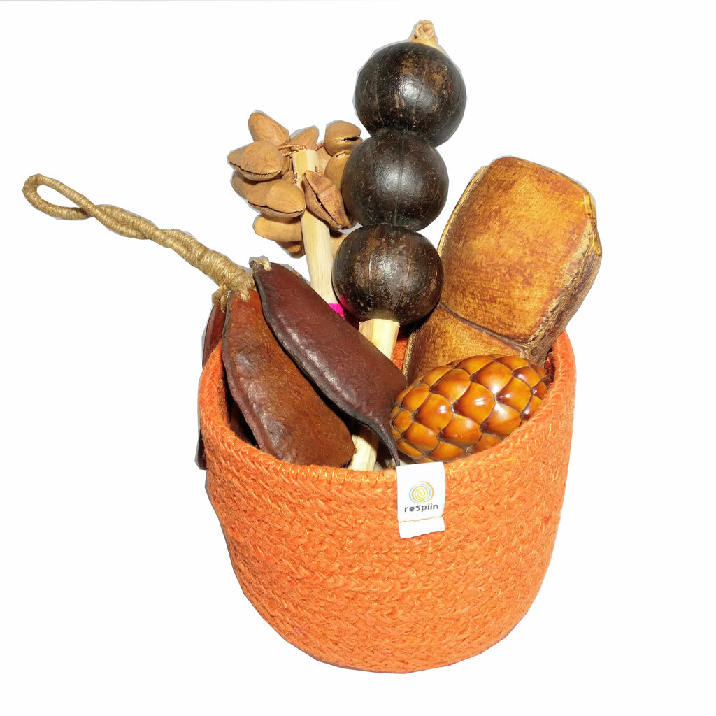 Natural Seed Shaker Basket