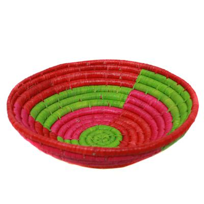 Raffia Baskets - Medium (Red, Blue, Orange, White)