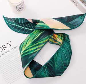 Tropical Print Headband (cross-knot)
