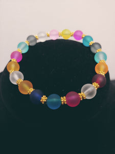 Multi-Colored Transparent Bracelet