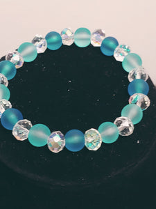 Transparent Glass Crystal Bracelet