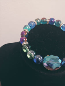 Transparent Glass Beaded Bracelet