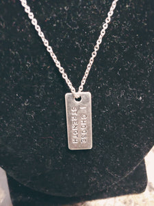 Inspirational Quote Charm Necklace