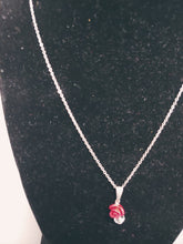 Load image into Gallery viewer, Stainless Steel Red Rose Necklace