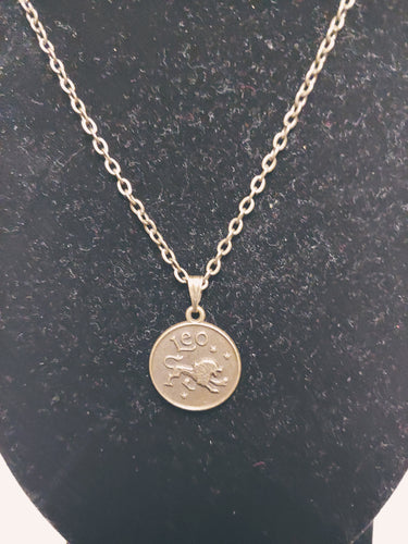 Antique Bronze Zodiac Charm Necklace