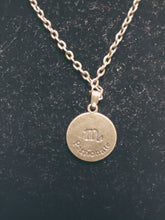 Load image into Gallery viewer, Antique Bronze Zodiac Scorpio Charm Necklace
