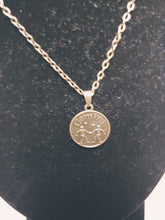 Load image into Gallery viewer, Antique Bronze Zodiac Gemini Charm Necklace