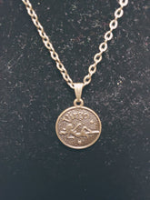 Load image into Gallery viewer, Antique Bronze Zodiac Virgo Charm Necklace