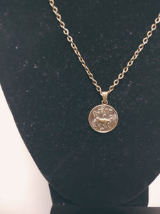 Antique Bronze Zodiac Aries Charm Necklace