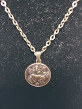 Load image into Gallery viewer, Antique Bronze Zodiac Aries Charm Necklace