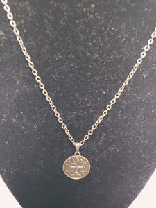 Antique Bronze Zodiac Libra Charm Necklace
