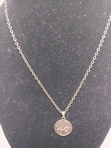 Antique Bronze Zodiac Capricorn Charm Necklace