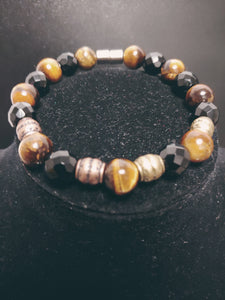 Men Tigers Eyes Handcrafted Bracelet