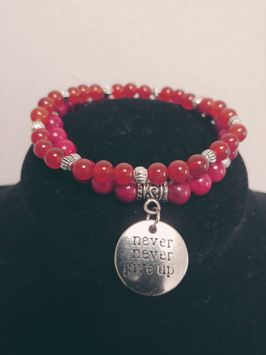 Red BamBou Corail Beaded Bracelet ( 2 Bracelets )
