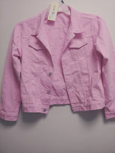 Load image into Gallery viewer, Unisex Kid's Pink Denim Jacket