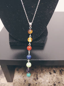 Stainless Steel Chakra Necklace