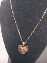 Load image into Gallery viewer, Bronze Heart Shape Resin Necklace