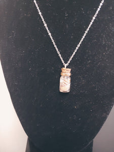 Natural Seashells In Miniature Bottle Necklace